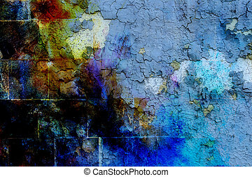 Rock Wall Texture with crackle background Color effect