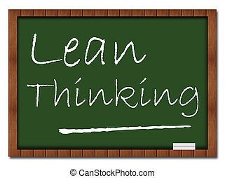 Lean Thinking Classroom Board - Lean thinking image with...