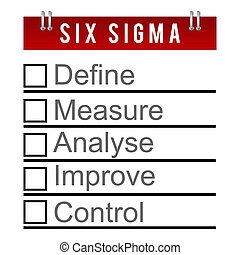 Six Sigma To Do Diary Style - Six Sigma concept image in a...