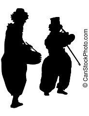 Brass instrument clown