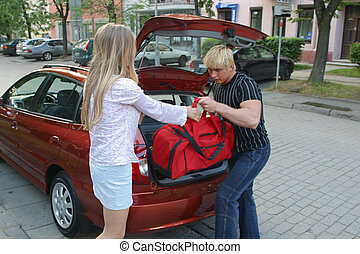 Journey to families on car