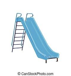 Childrens slide light blue vector illustration isolated on...