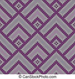 Seamless  wool knitted pattern