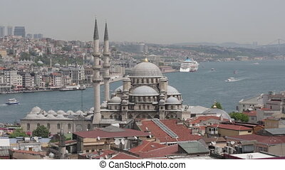 View of the gulf the Gold Horn and Suleymaniye Mosque from a roof the Grand Baazar, Istanbul
