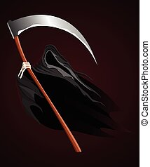 Grim Reaper - Illustration of grim reaper on dark background