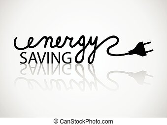 Energy Saving - Typography of energy saving