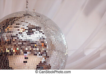 Party lights disco ball - Shiny disco ball on nightclub good...