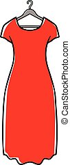 Long Dress - Red dress on hanger
