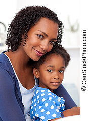 Afro-american mother and her girl