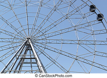 Ferris Wheel and Blue Sky - Summer ferris whell in Ufa...