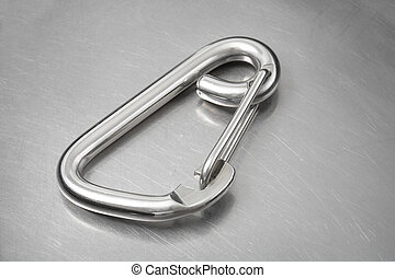 Carabiner hook - Stainless steel asymmetrical carabiner hook...