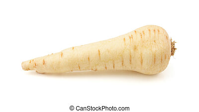Raw parsnip - Raw whole parsnip, isolated on a white...