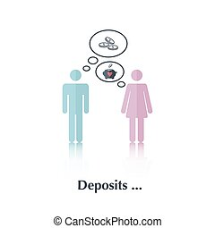 Deposits - Vector people icon,pictogramConcept of family...