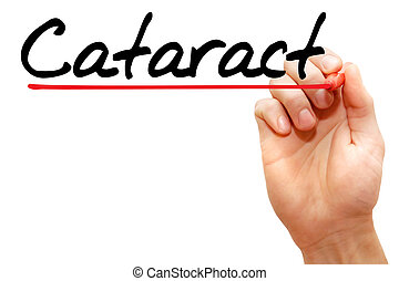 Cataract - Hand writing Cataract with marker, health concept