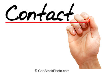 Contact - Hand writing Contact with marker, business concept