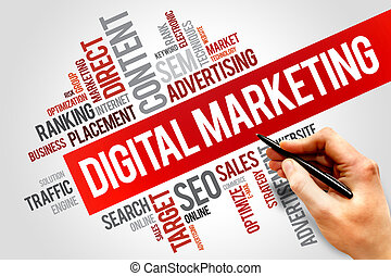 Digital Marketing word cloud, business concept