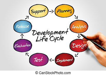 Development life cycle - Circular flow chart of life cycle...