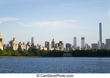 Midtown from the reservoir - Views of NYC Upper East Side...