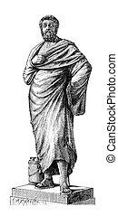Sophocles - Greek tragedian Sophocles. Originally published...