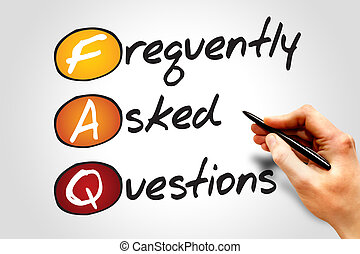 Frequently Asked Questions FAQ, business concept acronym