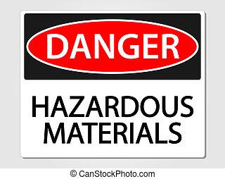 Hazardous Materials Sign - Hazardous materials sign