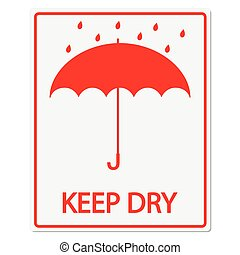 Keep Dry Vector Sign