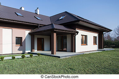 One storey house - Modern project of one storey commodious...