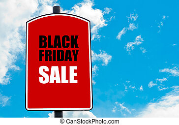 BLACK FRIDAY SALE written on red road sign isolated over...