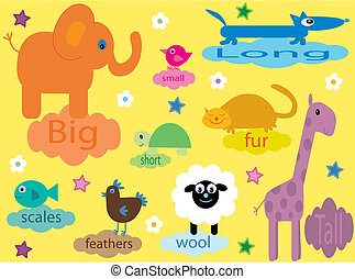 Collection of educational animals for the very young -...
