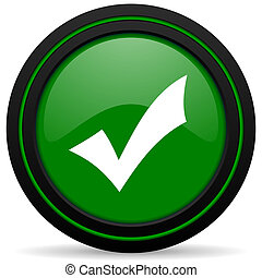 accept green icon check sign
