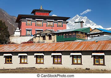 Tengboche gompa with Mount Everest and Lhotse - the best...