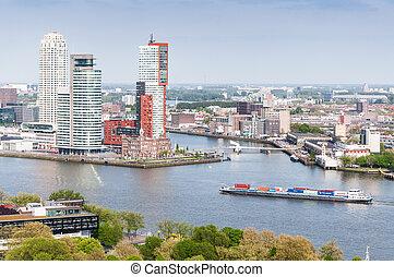 ROTTERDAM, NETHERLANDS: Cityscape f - ROTTERDAM, NETHERLANDS...