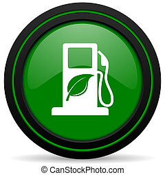 biofuel green icon bio fuel sign