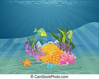 Seabed - Illustration of wonderful seabed