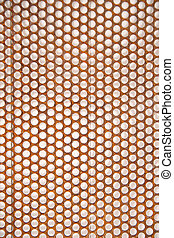 Perforated sheet - Background composed with perforated metal...