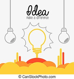 Idea design. - Idea design over white background, vector...