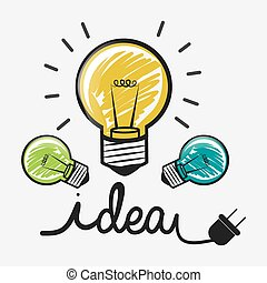 Idea design - Idea design over white background, vector...