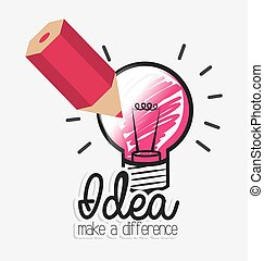 Idea design. - Idea design over white background, vector...