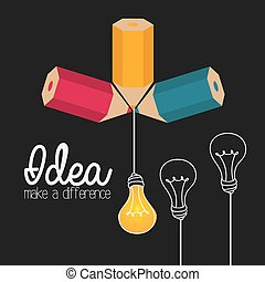 Idea design - Idea design over gray background, vector...