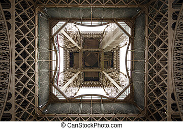 Fragment of construction the Eiffel Tower