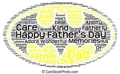 Tag cloud of father's day in batman - illustration of an...
