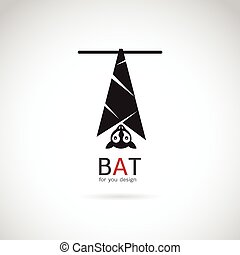 Vector image of an bat design on white background