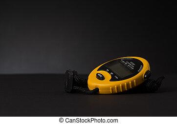 amarillo, cronómetro,