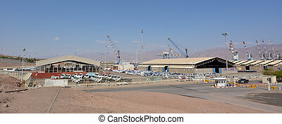 Port of Eilat in Eilat Israel - EILAT, ISR - APRIL 15 2015:...