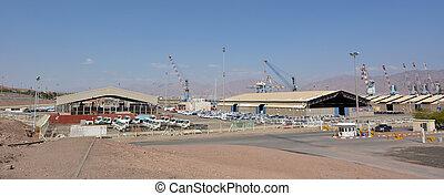 Port of Eilat in Eilat Israel - EILAT, ISR - APRIL 15 2015:...