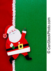 Santa Claus - A santa claus on a green background with red...