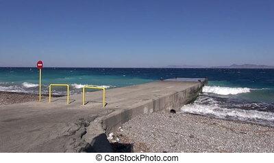 beautiful Aegean sea coast beach