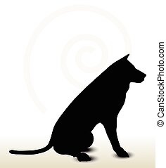 animal wolf silhouette - Vector Image - animal wolf...