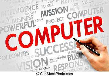 COMPUTER word cloud, business concept