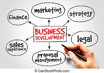 Business development mind map, business concept